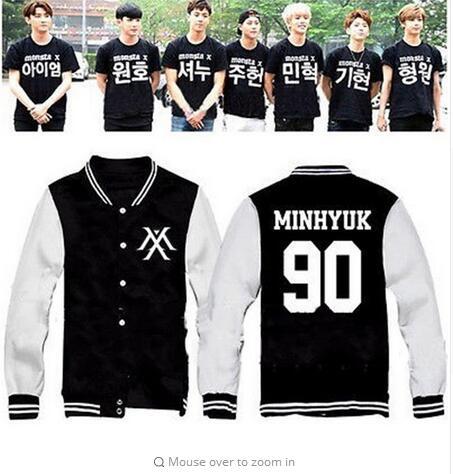 Kpop ALLKPOPER MONSTA X Uniforme de Bisbol El Clan 2.5 Part.1 Perdido Outwear Varsity Jacket