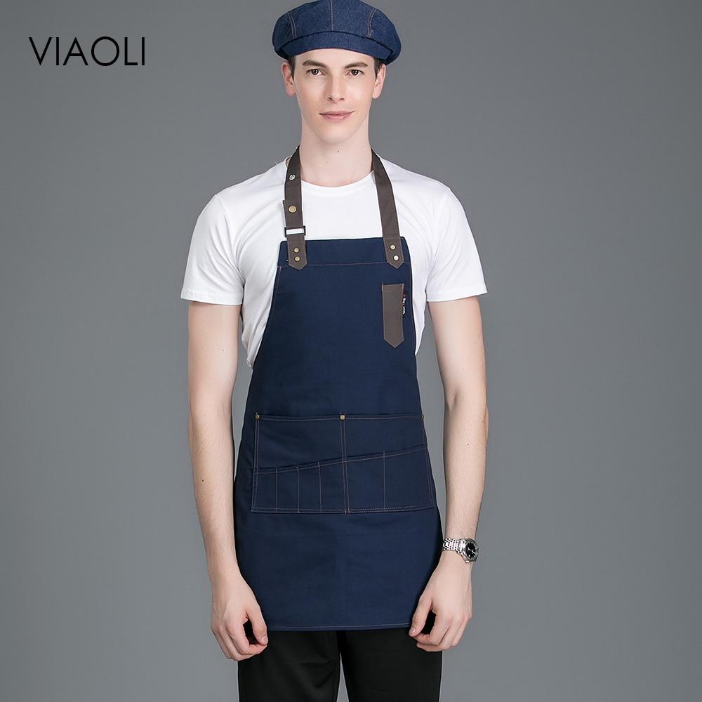 a63e15a115a Tela de Mezclilla Chaqueta de Chef Venta al por Mayor Manga Larga Uniformes  de Restaurante Camisas Ropa ...