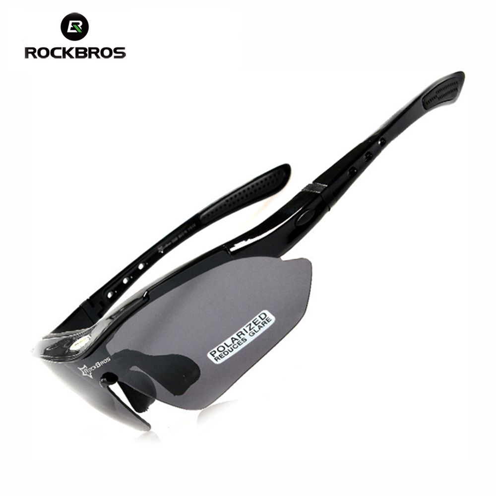 2017 RockBros Polarized 5 Len Sun Glasses Outdoor Sports Sunglasses TR90 Goggles Eyewear UV Protection hot rockbros polarized sun glasses outdoor sports bicycle glasses bike sunglasses tr90 goggles eyewear 5 lens 10014