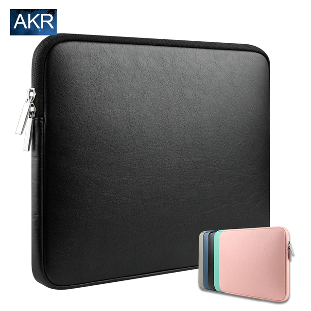 2017 New Laptop Sleeve case for Macbook Air 13  Pro Retina 11 12 15 inch Shockproof Thick Wool PU leather style Free Shipping