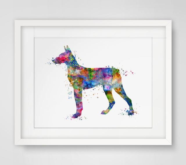 Doberman Pinscher Dog Art Print Poster Doberman Pinscher Wall Art Wall Hanging Art Wall Decor Painting for Wall Art Decor P300
