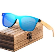 цена на BARCUR Fashion Wooden Sunglasses Men Bamboo Temple Sun Glasses Women Wood Glasses Oculos de sol masculino