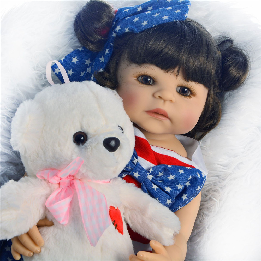 23 Inch Bebes Reborn Girl Doll Full Silicone Reborn Baby Dolls Vinyl Newborn Princess Toddler Babies Gift Boneca Sexual Realista Toys & Hobbies Dolls