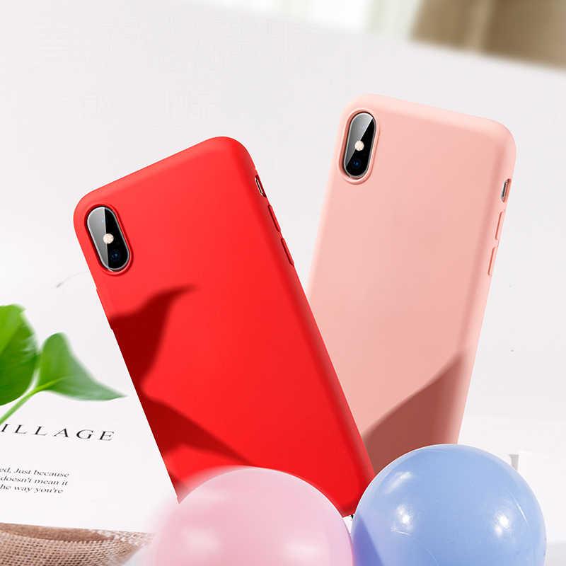 Силиконовый чехол для iPhone 7 8 Plus, мягкий чехол для телефона iPhone XR X XS Max 6 6S 7 8 Plus, Аксессуары для мобильных телефонов