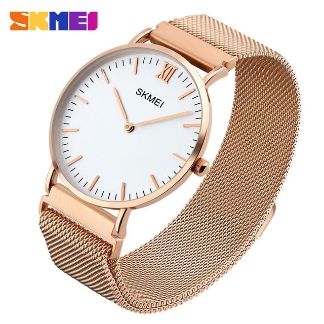 Readeel Top Brand Mens Watches Luxury Quartz Casual Watch Men Stainless Steel Mesh Strap Ultra Thin Dial Clock relogio masculino
