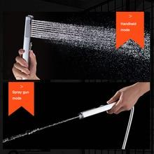 BAKALA dusche kopf hand gehalten regen zwei funktion ABS dusche bad dusche zubehör druck wasser sparende dusche wasserhahn