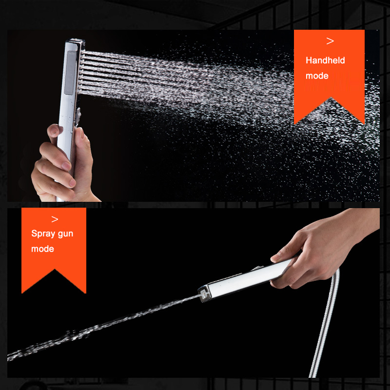 BAKALA Shower Head Hand-held Rain Two Function ABS Shower Bathroom Shower Accessories Pressurized Water-saving Shower Faucet