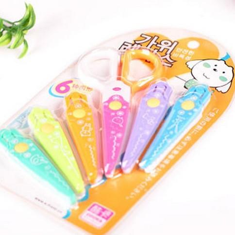Korean Version Of The Creative Child Safety Plastic Lace Scissors Suit Scissors Children Scissors Creative 6 Color Can Change