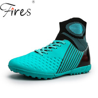 Fires Men's Sport Shoes Outdoor Superfly Futsal Soccer Boots Ankle High Trainning Boots Cleats kids Student Football Sneakers