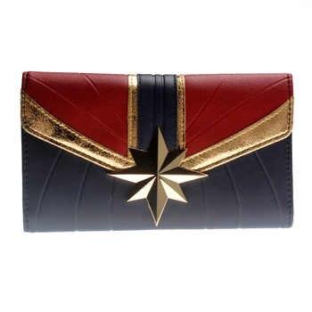 Captain Marvel Tri-Fold Wallet Women Purse Wonder woman DFT-6037 - DISCOUNT ITEM  50% OFF All Category