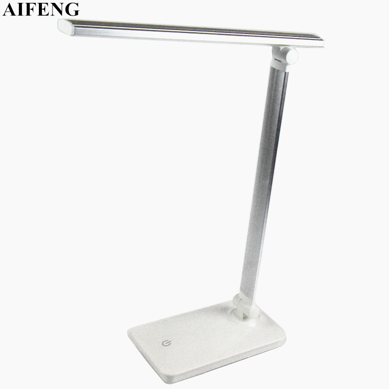 AIFENG Led Desk Lamp Foldable Dimmable 5W 370LM Desk Table Light USB Charging Touch Night Light Eye Care Book Reading Desk Lamps huan jun shi led dimmable desk lamp usb rechargeable led table lamp atmosphere night light eye care adjustable rgb table light