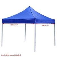 2.9m*2.9m SizeTarp Waterproof Pop Up Garden Tent Sun Shelter Gazebo Canopy Outdoor Marquee Market Shade Anti UV Tent no Shelf