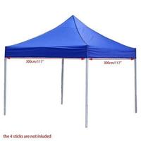 3m*3m Big SizeTarp Waterproof Pop Up Garden Tent Sun Shelter Gazebo Canopy Outdoor Marquee Market Shade Anti UV Tent no Shelf