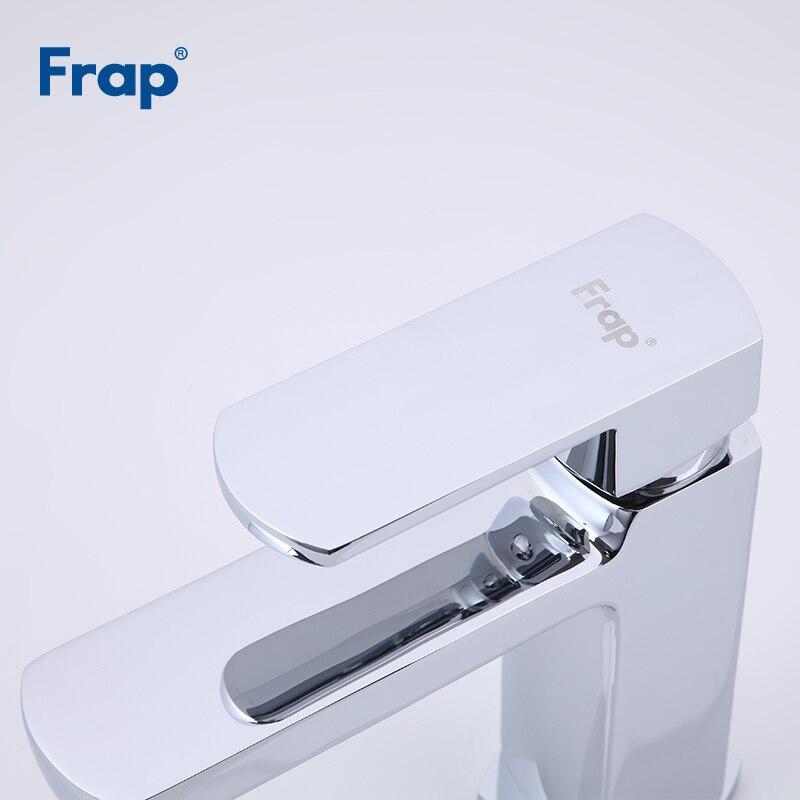 Frap смеситель для раковины на бортике, кран для ванной комнаты, кран для горячей и холодной воды, смеситель для раковины, хромированный латун...