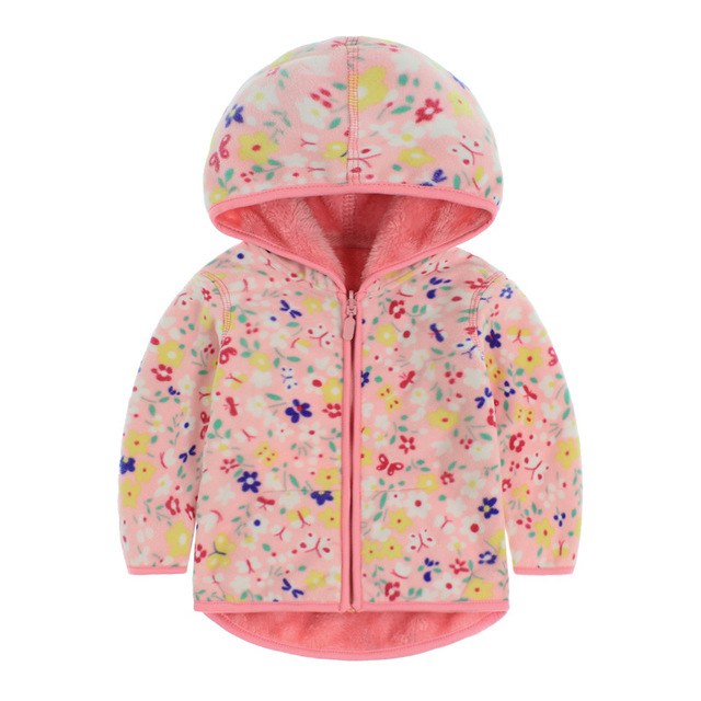 Children kids spring autumn clothing baby boys girls brand hoodies sweatshirts high quality cute kids floral feece hoodeis