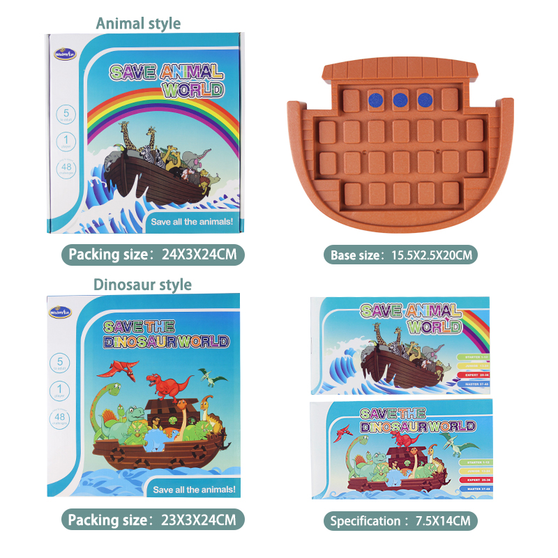 Toys For Children Dinosaur Animal Logic Game Educational Toys Puzzle Games Tangram Puzzle Develop Reasoning Skills Board Game in Puzzles from Toys Hobbies
