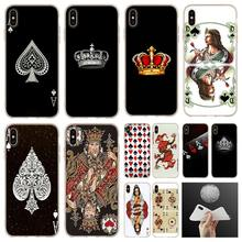 Ace poker rainha do Rei da família macio Phone Case capa Para iPhone 5 11 2019 XI R 4 5S SE 6 7 8 6s Plus x XR XS caso Max(China)