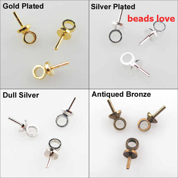 25 Pieces Pearl Bails Pin Pendants Antique Brass Pearl Pendant Jewelry Finding