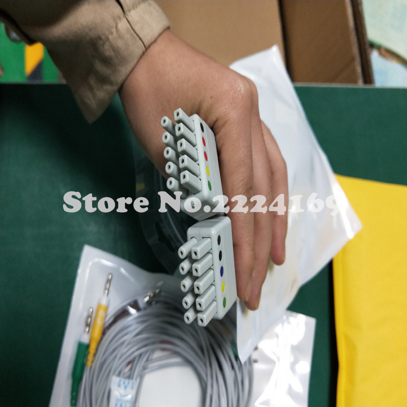 New Compatible with Mortara ECG Cable 10 leadwire all set ECG Cable leadwires IEC Banana 4.0 end