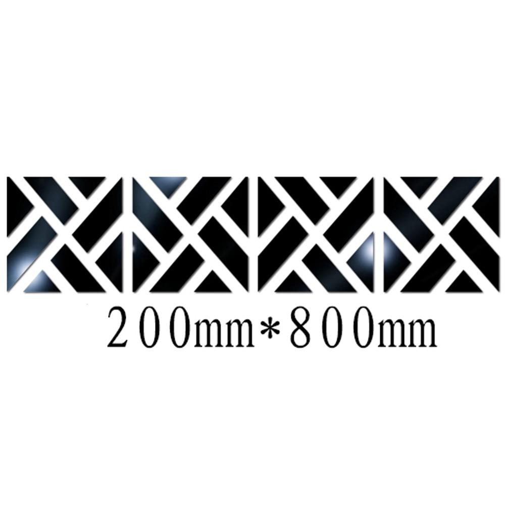 32 шт. комплект 3D зеркало настенное Стикеры DIY квадрат 20*80 см Наклейки зеркальный эффект жесткий акрил Стикеры термоаппликации Съемный Книги ...