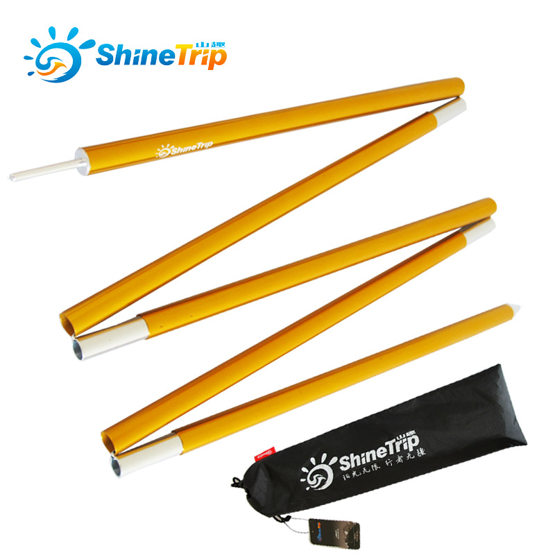ShineTrip 2pcs/set High Strength sunshade pole bigger awning rod Camping Tent Pole Aluminum Alloy rod Tent accessories Tube