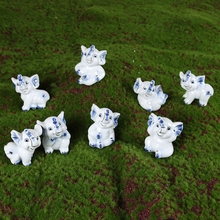 Ceramic Small Blue Elephants Handicraft Home Decoration Accessories Elephant Figurines Animal Statue Children's & Friend's Gifts