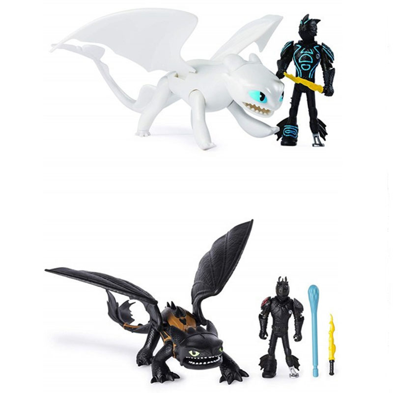 Dragon 3 Toothless Cartoon PVC Figures Action Figure Toys Kids Collection Ornaments Kids Xmas Gift