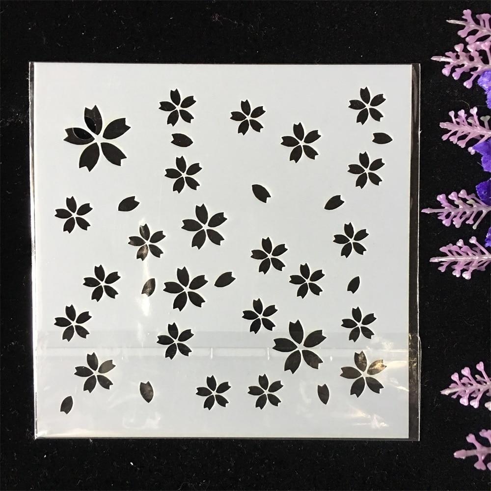 New 13cm Plum Flower Texture DIY Layering Stencils Wall Painting Scrapbook Coloring Embossing Album Decorative Template