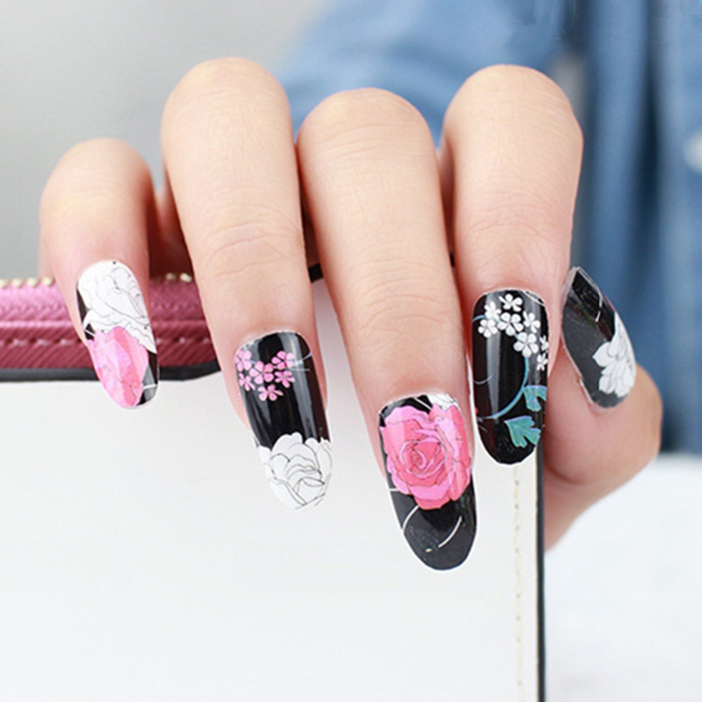 Aliexpress buy 5pcslot nail sticker elegant peony flower aliexpress buy 5pcslot nail sticker elegant peony flower stickers blooming flower 3d nail art decals sexy beauty nails wraps styling tools from izmirmasajfo