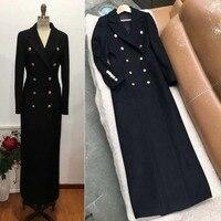 classic black casaco feminino amazing wool coat plus size warm winter coat women fashion abrigo mujer 5xl 6xl maxi long coat