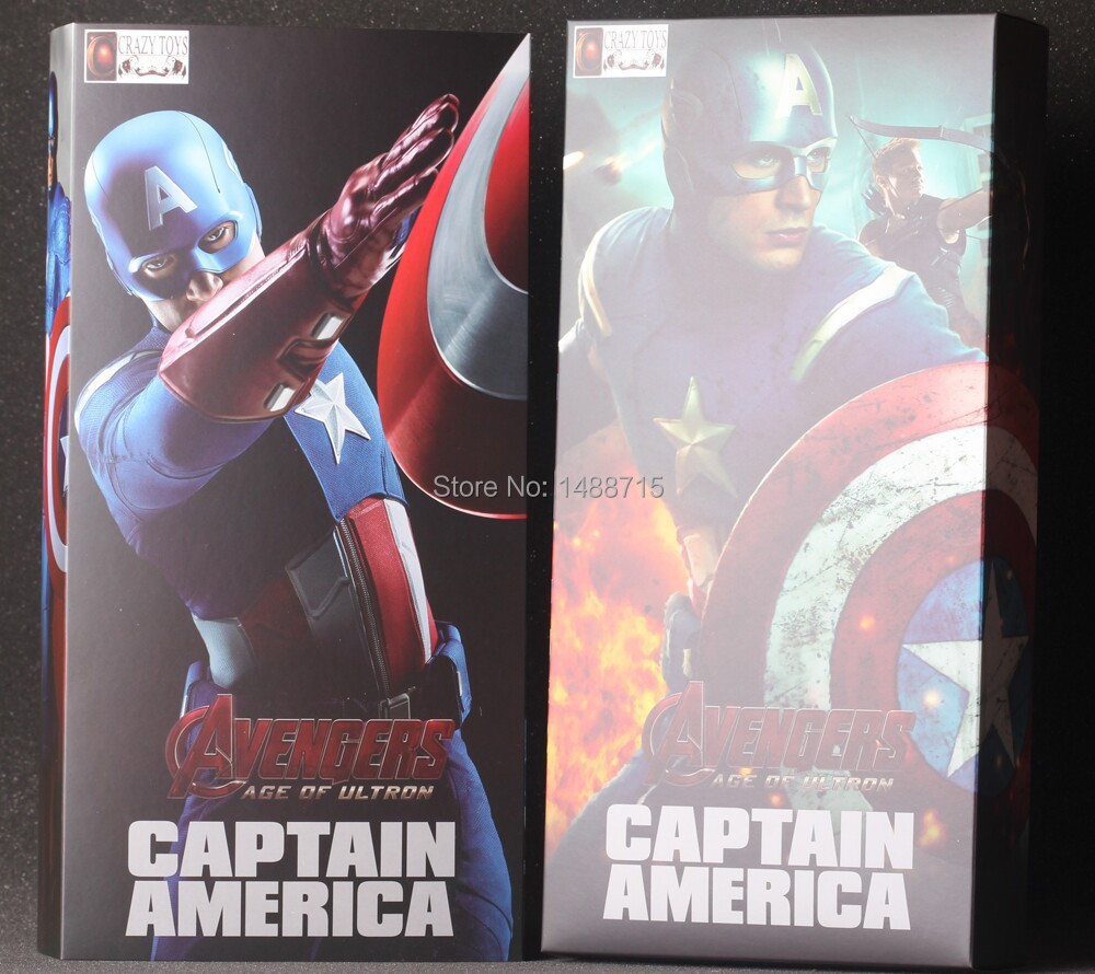 ФОТО  Crazy Toys Captain America Steven Steve Rogers Marvel The Avenger hero Age Of Ultron 9 Figure Box