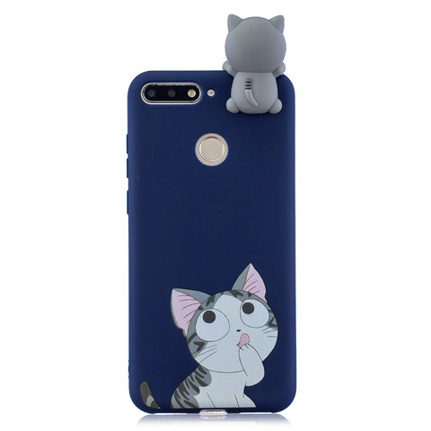 Silicone Case sFor Huawei Honor 7A Pro Cover For Fundas Huawei Y6 Prime 2018 3D Doll Toys Candy Soft TPU Phone Cases Women Etui Karachi