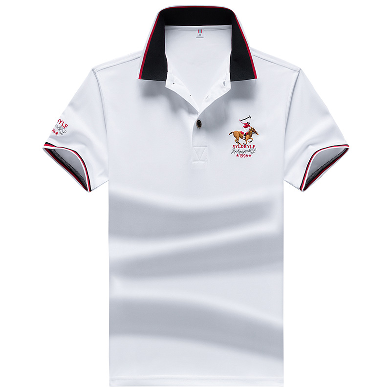 YIHUAHOO Brand Polo Shirt Men High Quality Men Polyester Short Sleeved Summer Shirt Brand Jerseys Polo Hombre Size M-4XL JCP-732