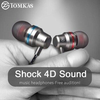 Auriculares Tomkas en la oreja con cable para auriculares de teléfono móvil 5 colores 3,5mm en la oreja deporte Micro auricular para iPhone Xiaomi con micrófono