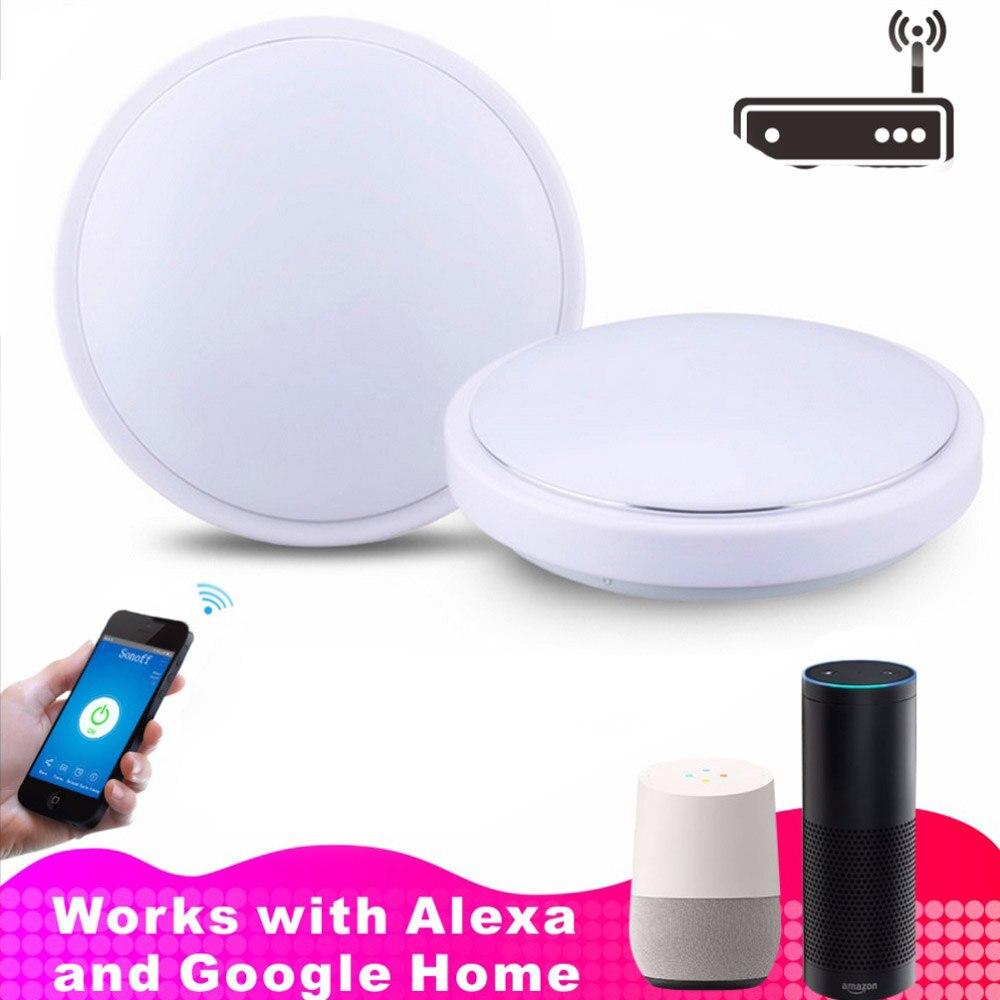 JIAWEN Wifi téléphone APP contrôle LED plafonnier fonctionnant avec Amazon Alexa et Google AC110-240 V