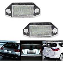 2 шт. светодио дный свет лампы для Ford Mondeo MK3 MK111 2000-2007 12 В 24SMD светодио дный номер Подсветка регистрационного номера лампа