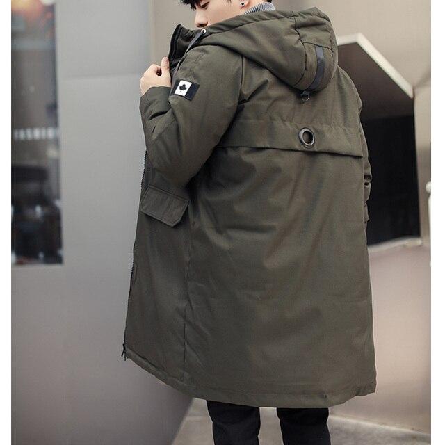 long parkas winter jacket men 2020 New warm Windproof Casual Outerwear Padded Cotton Coat Big Pockets High Quality Parkas Men 5