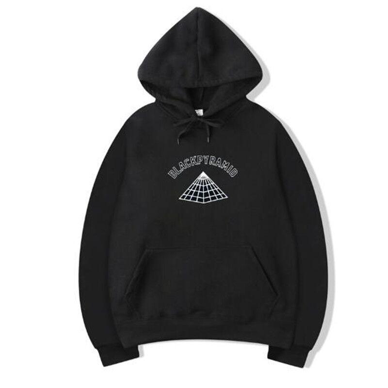 2b262b90e5c5 Fashion BLACK PYRAMID Hip Hop Hoodies Men Chris Brown Street Style Long  Sleeve Sweatshirt Justin Bieber Purpose Tour Hoody