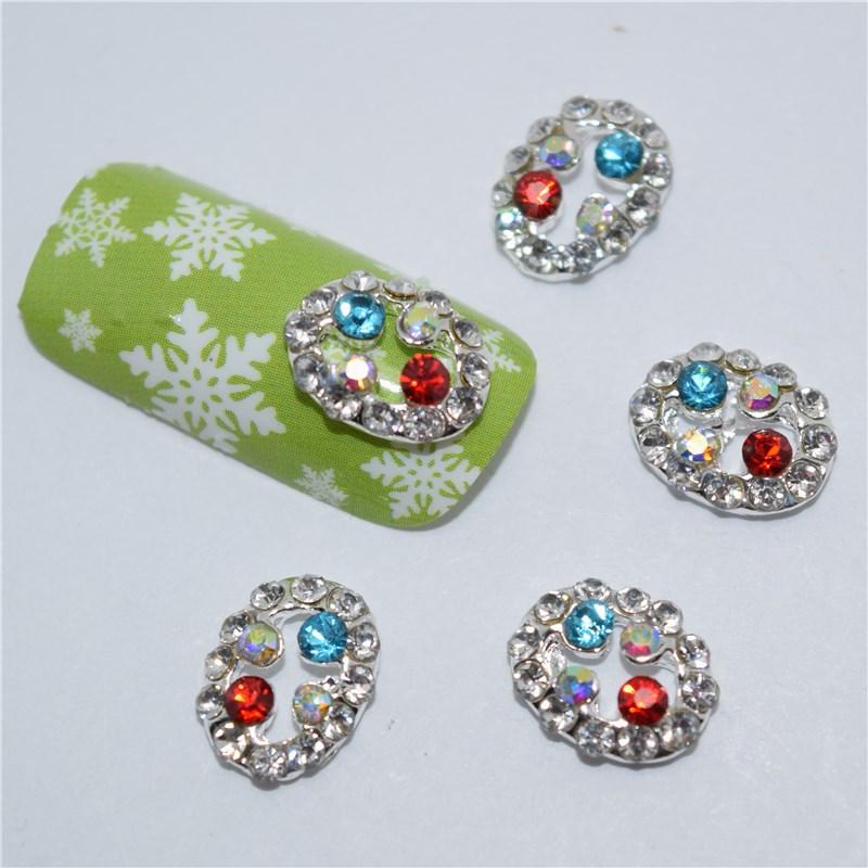 ᐊ10 unids nuevo colorido Glitter 3D pegatinas de uñas, 3D aleación ...