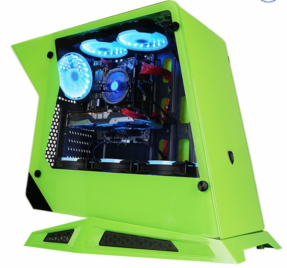 OEM Intel Core I5/i7 4770k 3.5GHz Ram 8GB SSD 120G Water Cooling Case And 23.6/27 Inch Monitor Display Computer Desktop Pc