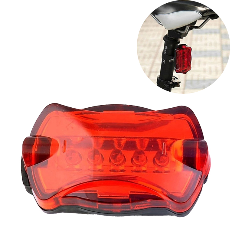 Waterproof Bike Bicycle Light  Rear Tail Light Lamp Bulb Red Back Cycling Safety Warning Flashing Lights Reflector Accessories