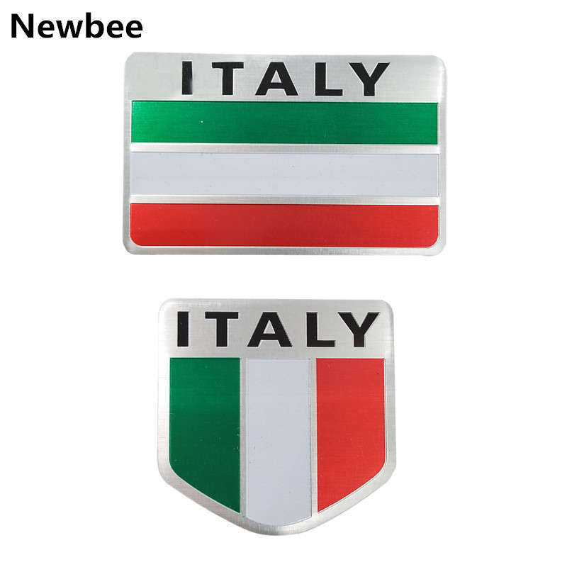 Exterior Accessories Car Stickers Hearty Hot 3d Aluminum Italy Map National Flag Car Sticker Car Styling For Fiat Iveco Lamborghini Alfa Romeo Detomaso Maserati Zagato