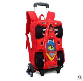 kid School Backpack On wheels Trolley School bag for boy kid's luggage car Trolley Rolling Bag Children School Backpack for kids эксмо домики для кукол своими руками