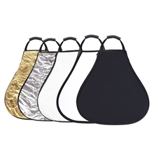 CY Free Ship 80cm 5 in 1 Triangle Portable Collapsible Light Photography Reflector with the handle for Studio Multi Photo Disc