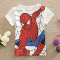 Meninos Meninas crianças Do Bebê Camiseta 100% Algodão T-shirt Dos Miúdos Spiderman Thomas Tee Roupas Roupas Infantis Menino Vetement Garcon