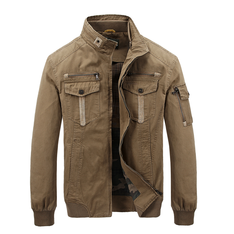 2016 Hot men outwear cargo army jacket men zipper multi-pockets stand collar brand US military jacket men chaqueta hombre
