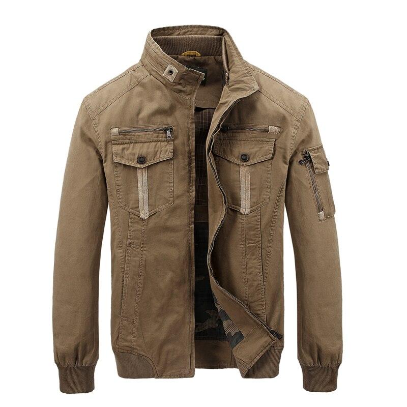 AFS JEEP Heißer männer outwear fracht armee jacke männer zipper multi-taschen stehkragen marke UNS militär jacke männer chaqueta hombre