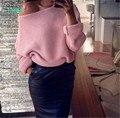 TAOVK Русский стиль дизайна новый 2016 женщин рукава Летучая Мышь свободно одно слово воротник вязать пуловеры свитер