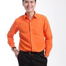 Новая мужская рубашка фиолетовый оранжевый синий длинный рукав Жених выпускного вечера рубашки представление на заказ свадебные мужские вечерние рубашки Camisa Masculina
