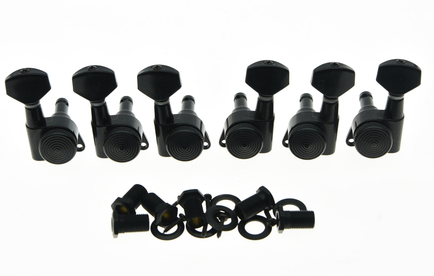 KAISH 3L3R Locking Tuning Keys Guitar Tuners Pegs Machine Heads Black